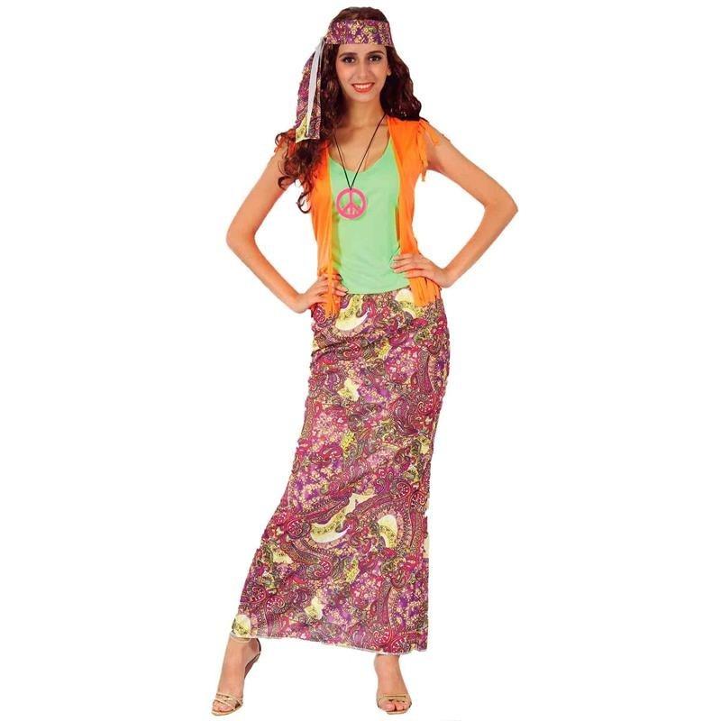 Disfarce Hippie Mulher Adulto