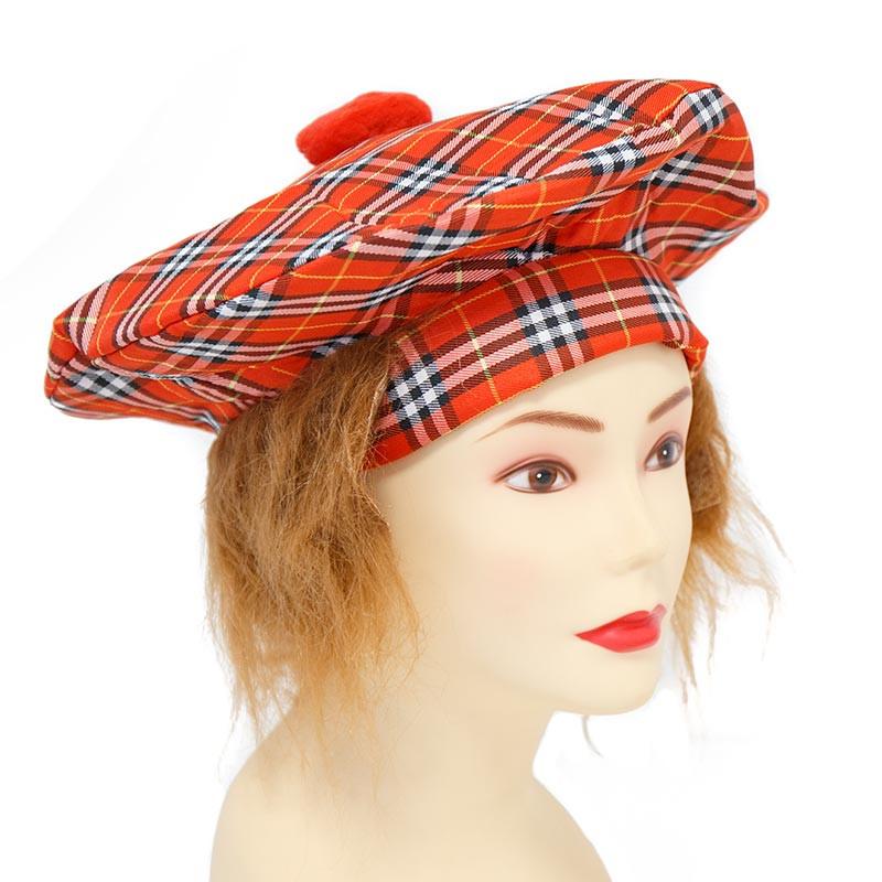 Chapeu Escocês com Cabelo Carnaval