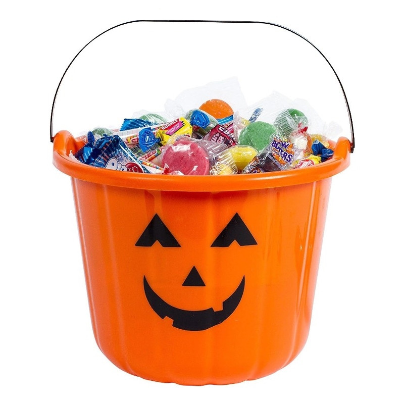 Abóbora para doces de Halloween
