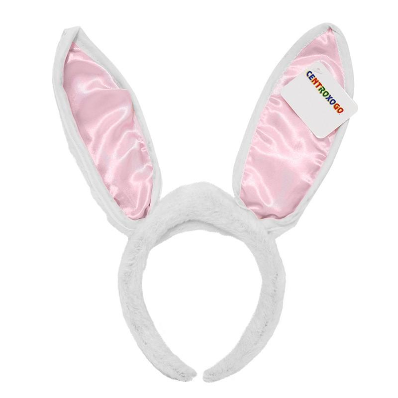 Diadema com orelha coelho com Luz Carnaval