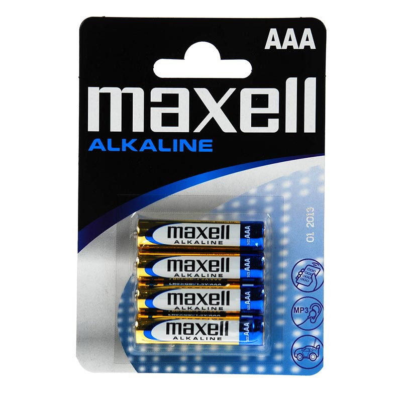 LR3 Alkaline AAA Maxell blister 4