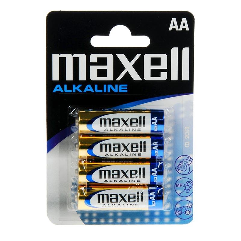 LR6 Alkaline AA Maxell blister 4