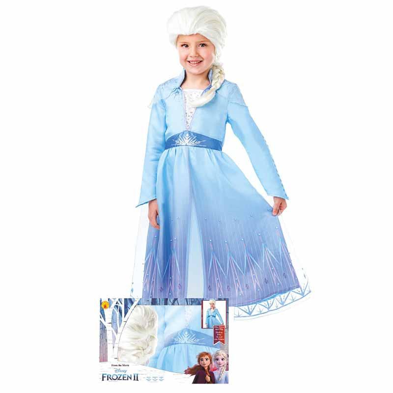 Disfarce Elsa com Peruca Frozen2 Caixa Inf