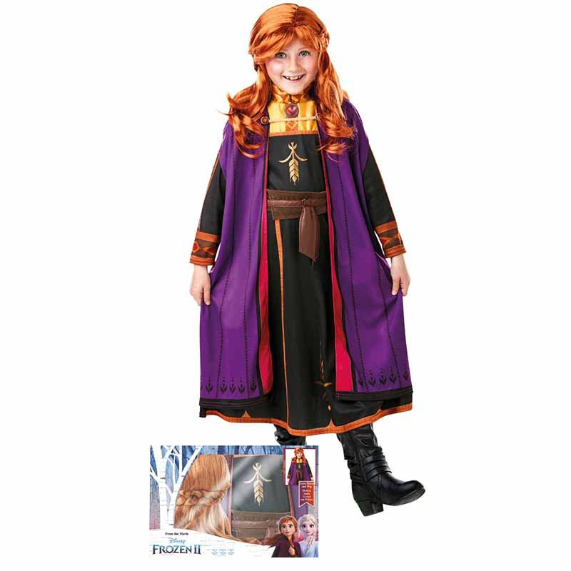 Disfraz Anna com Peruca Frozen2 Caixa Inf