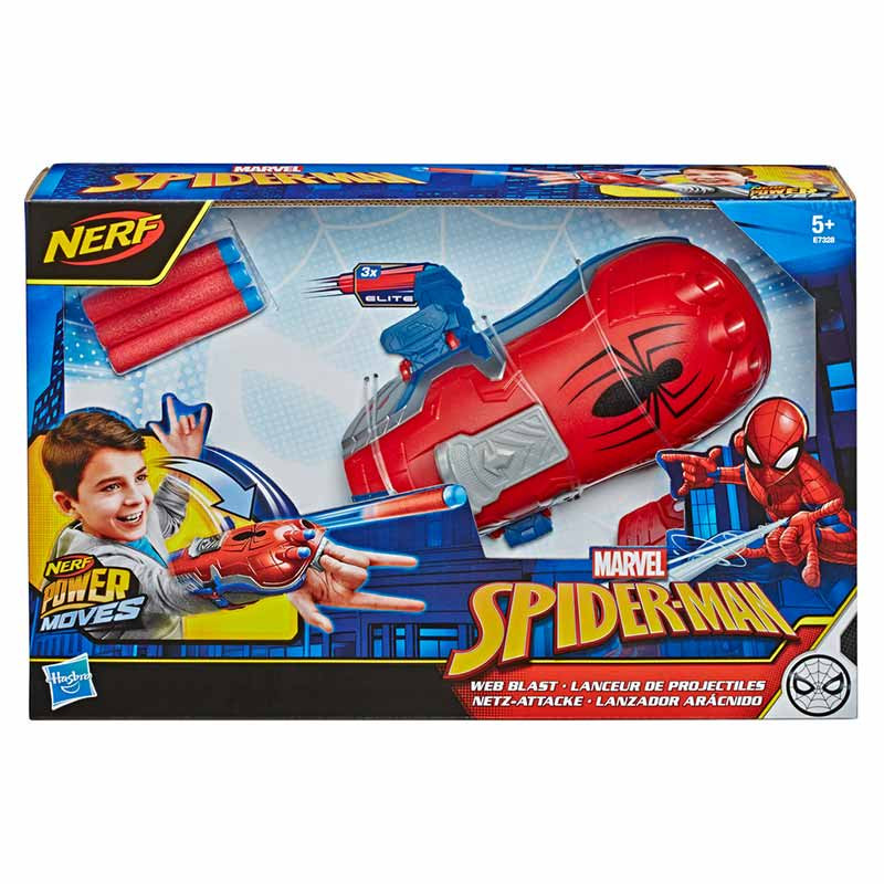Nerf Spiderman lançador arácnido Power Moves