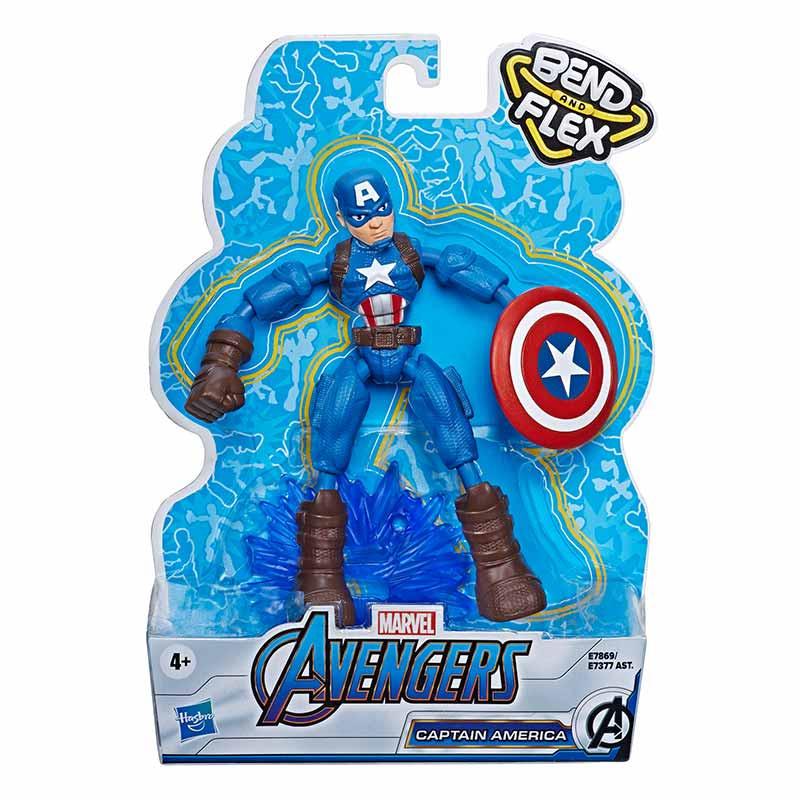 Avengers bend and flex figura Capitão América 15cm