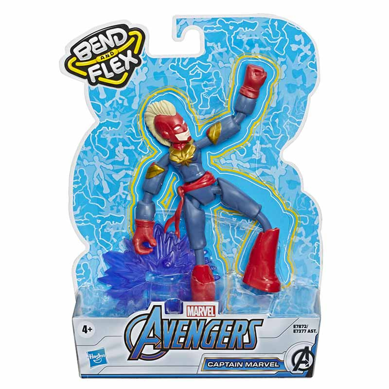 Avengers bend and flex figura Capitã Marvel 15 cm