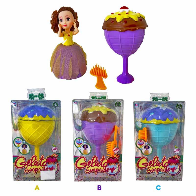 Boneca Princesas Gelado Surpresa
