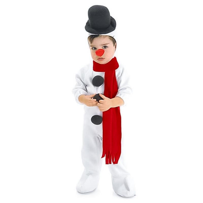 Disfarce boneco de nieve infantil