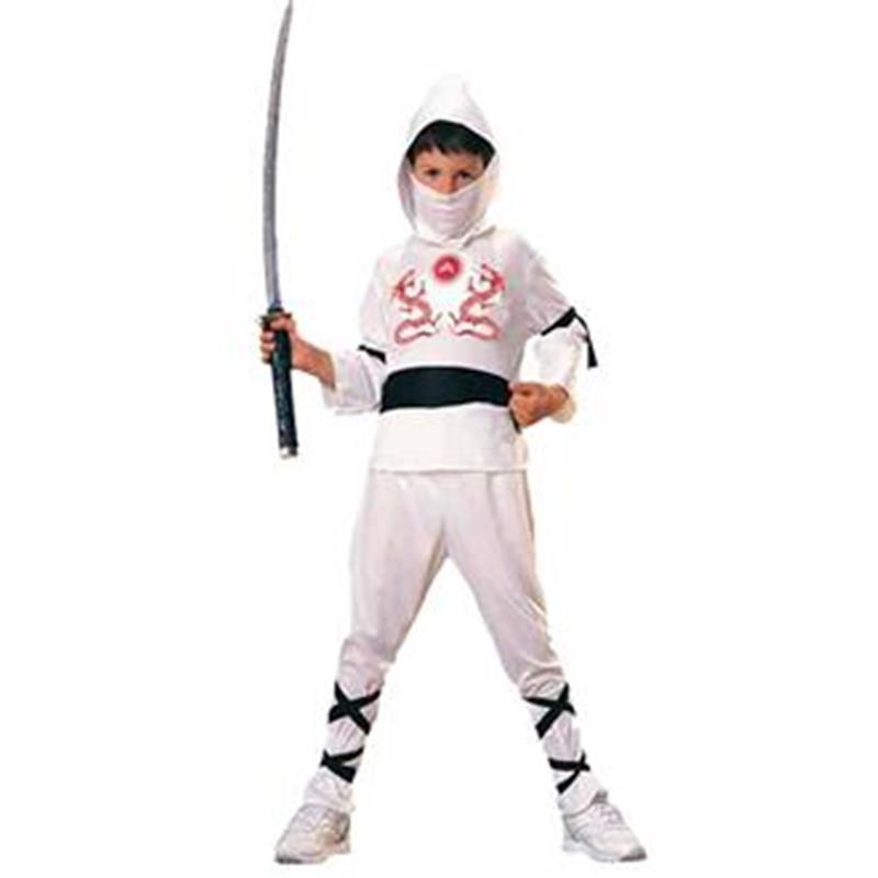 Disfarce Ninja Blanco Infantil