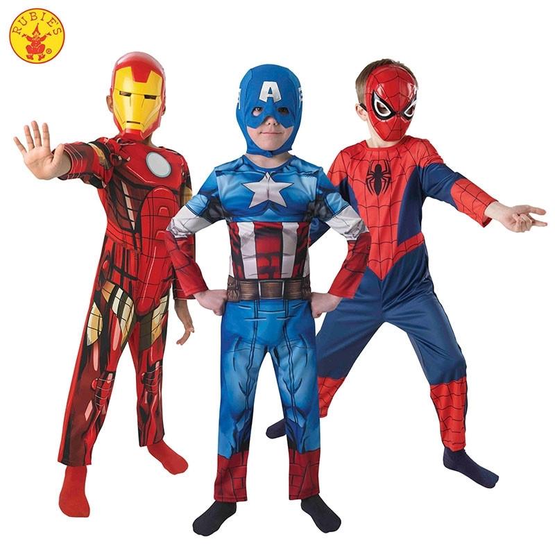 Disfarce Marvel Ultimate Tripack Infantil em caixa