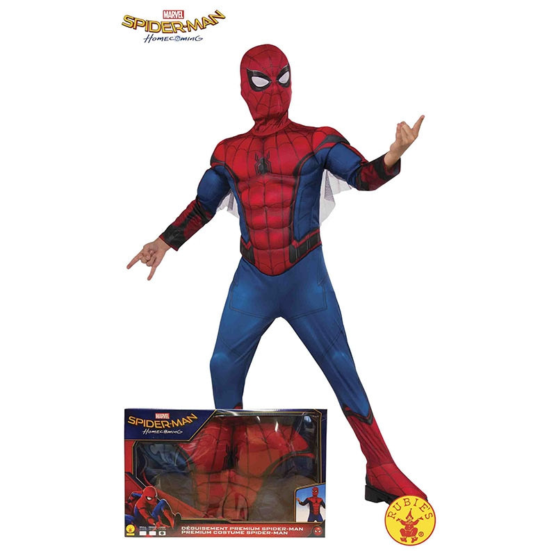 Disfarce Spiderman musculoso caixa inf