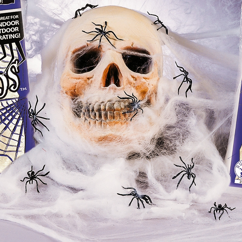 Teia de aranha gigante Halloween Branca