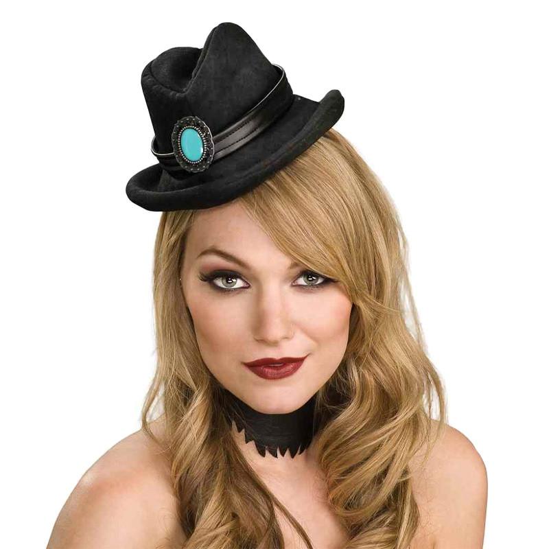 Mini chapéu cowboy preto