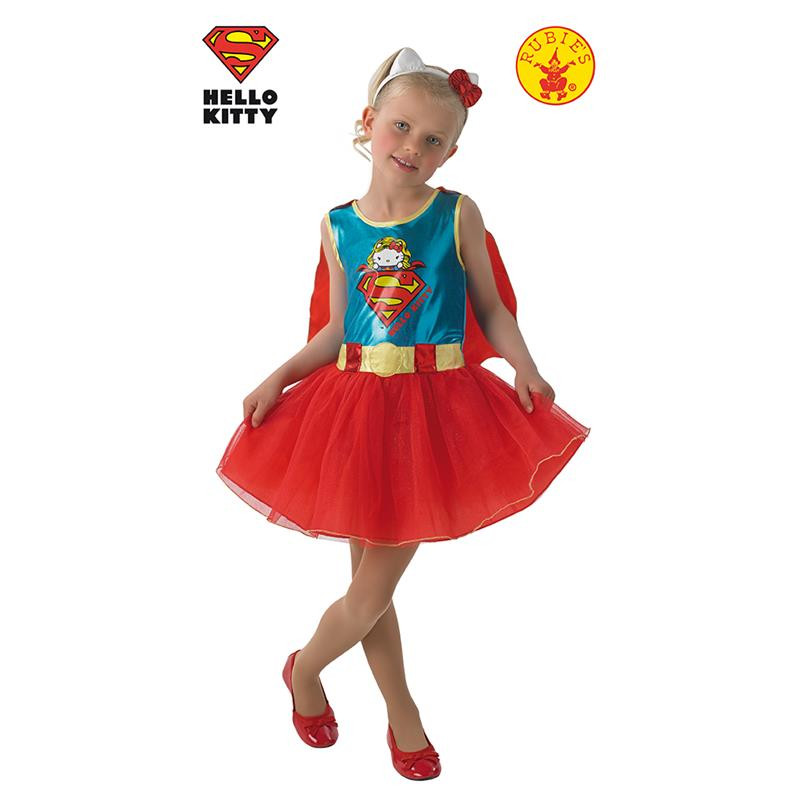 Disfarce SuperGirl Hello Kitty Infantil
