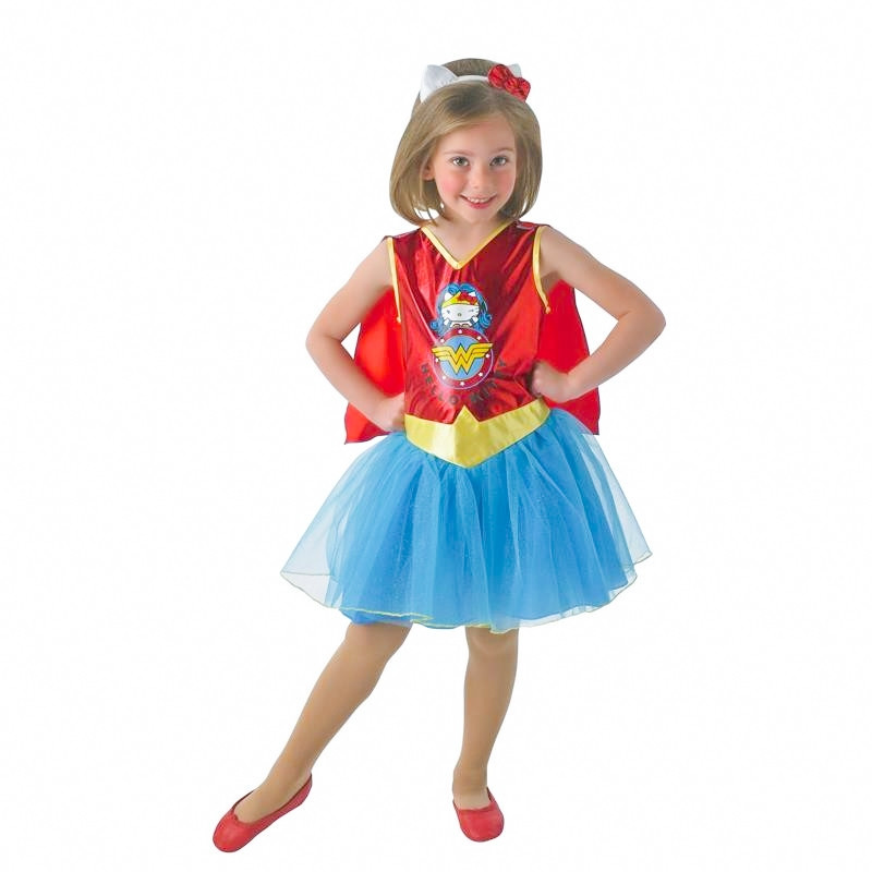Disfarce Wonder Woman Hello Kitty infantil