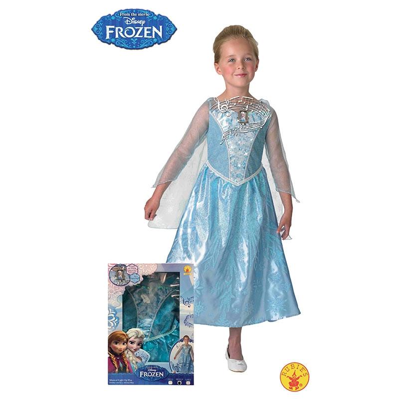 Disfarce Elsa Frozen luz e música inf