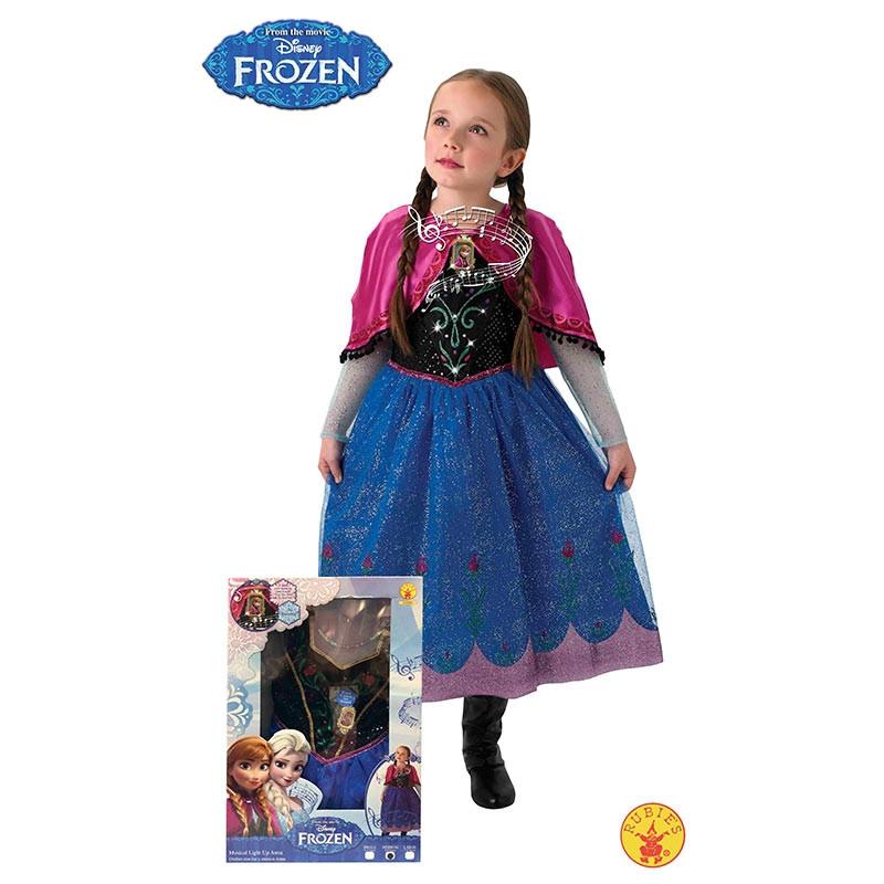 Disfraz Anna Frozen luz e música inf