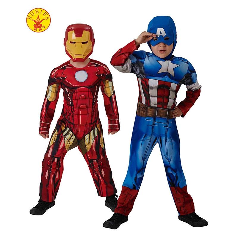 Disfarce Cap América e Iron Man 2x1 caixa inf
