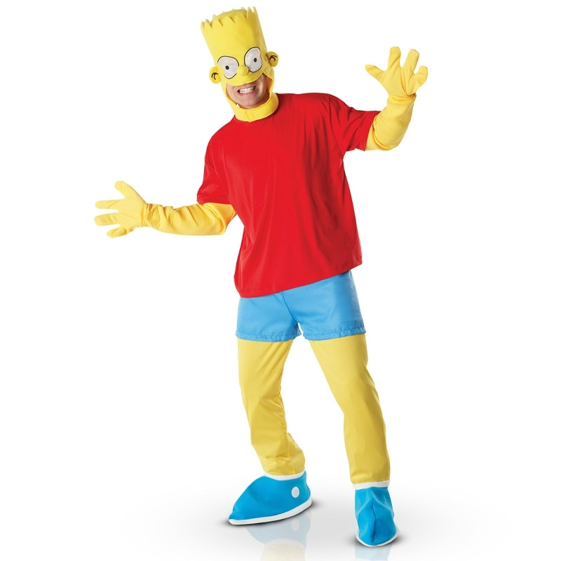 Disfarce Bart Simpson deluxe adulto