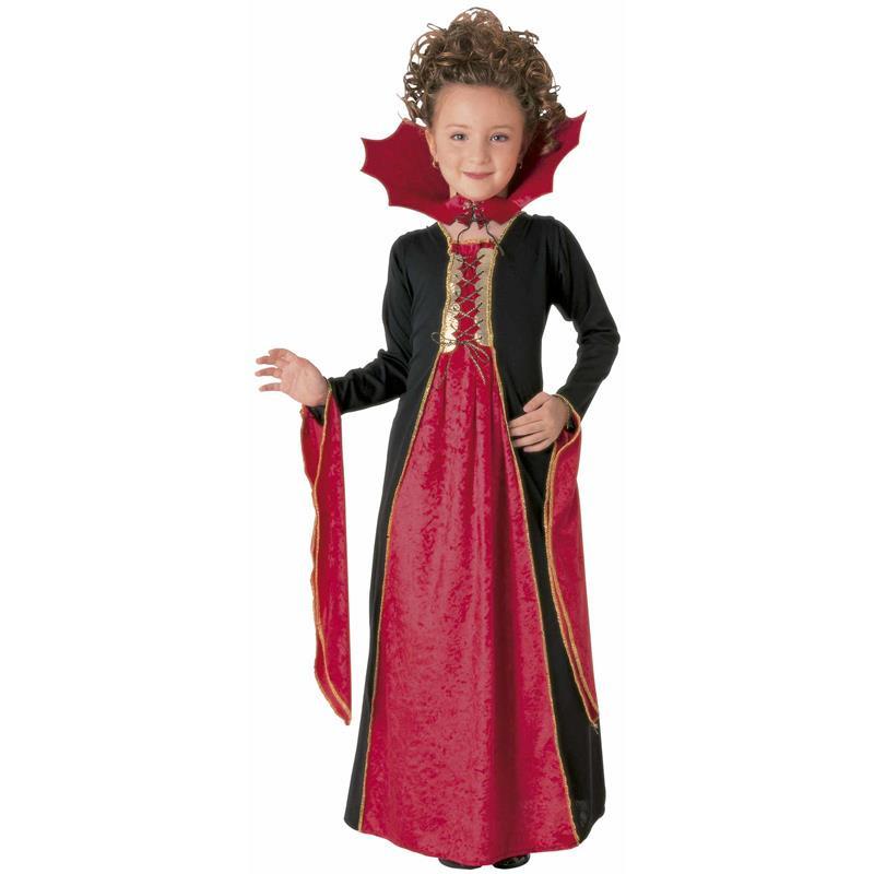 Disfarce vampira gótica vermelha infantil