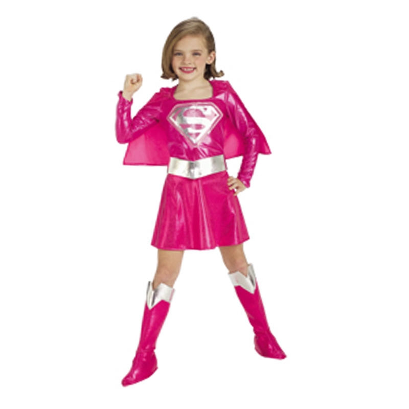 Disfarce Supergirl Rosa deluxe inf