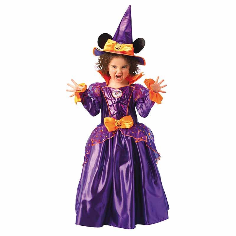 Disfarce Minnie Mouse bruxa platinum infantil