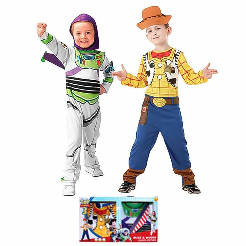 Disfarce Toy Story Buzz e Woody em caixa inf