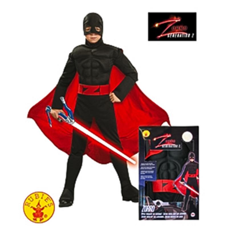 Disfarce Zorro musculoso geração Z inf
