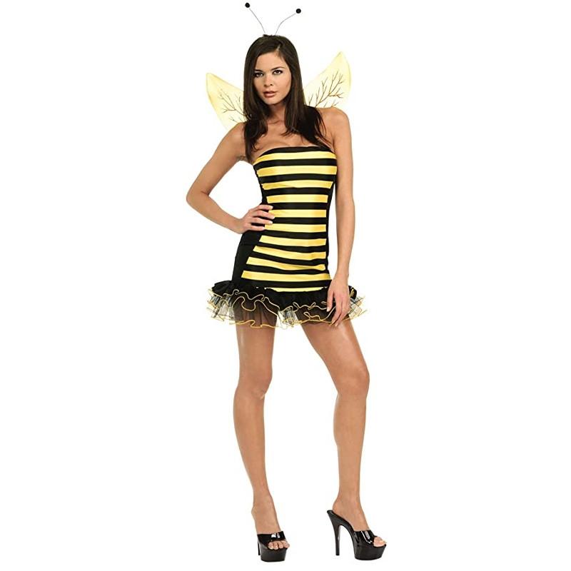 Disfarce abelhinha com asas e antenas adulto