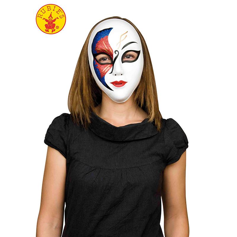 Mascara veneciana glitter preta e vermelha