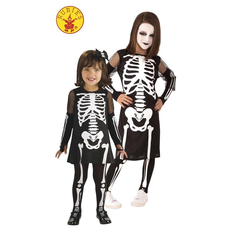 Disfarce esqueleto Ossinhos Infantil