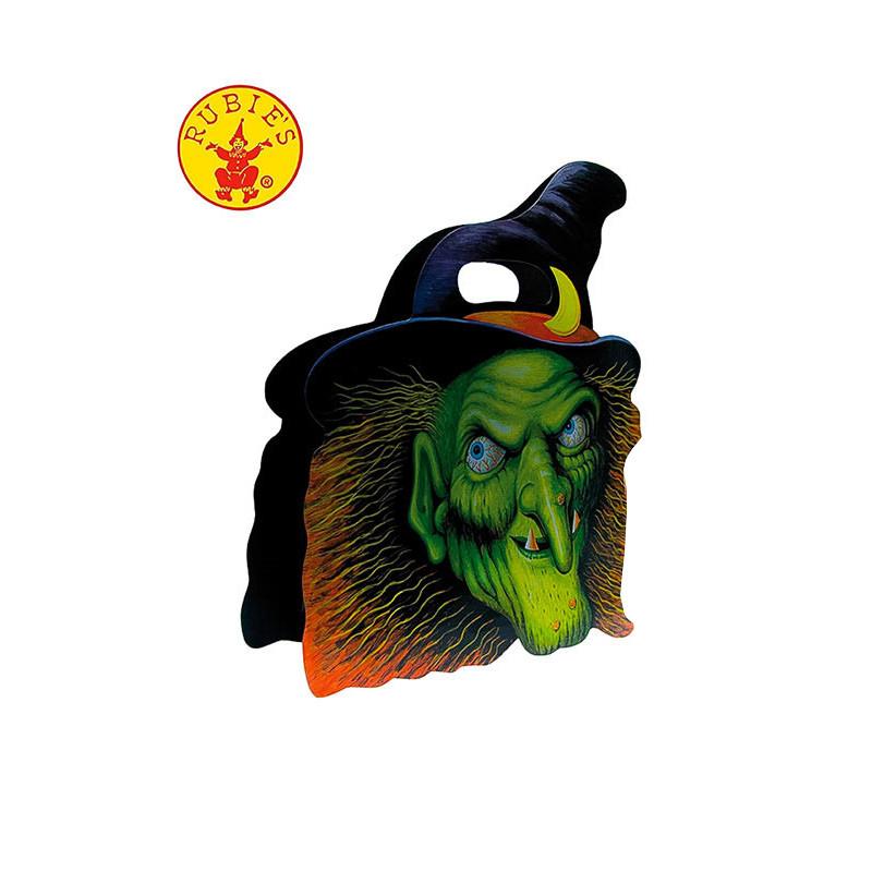 Saco Halloween para goluseimas Caveira bruxa