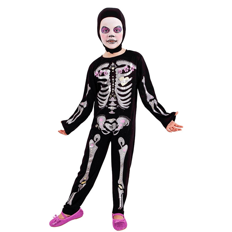 Disfarce Esqueleto Purpurina Glitter