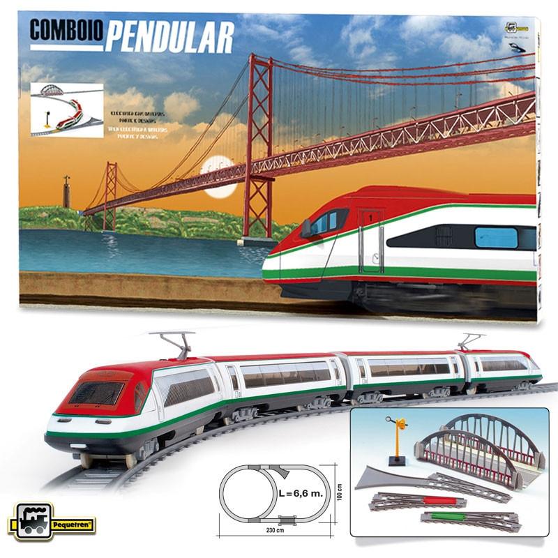 Comboio pendular com pontes e desvios