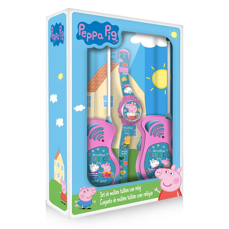 Set relógio e walkie talkie Peppa Pig