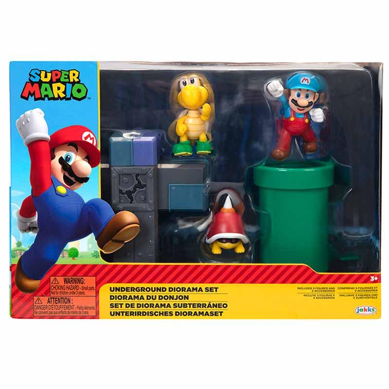 Super Mario Nintendo Underground Diorama Set