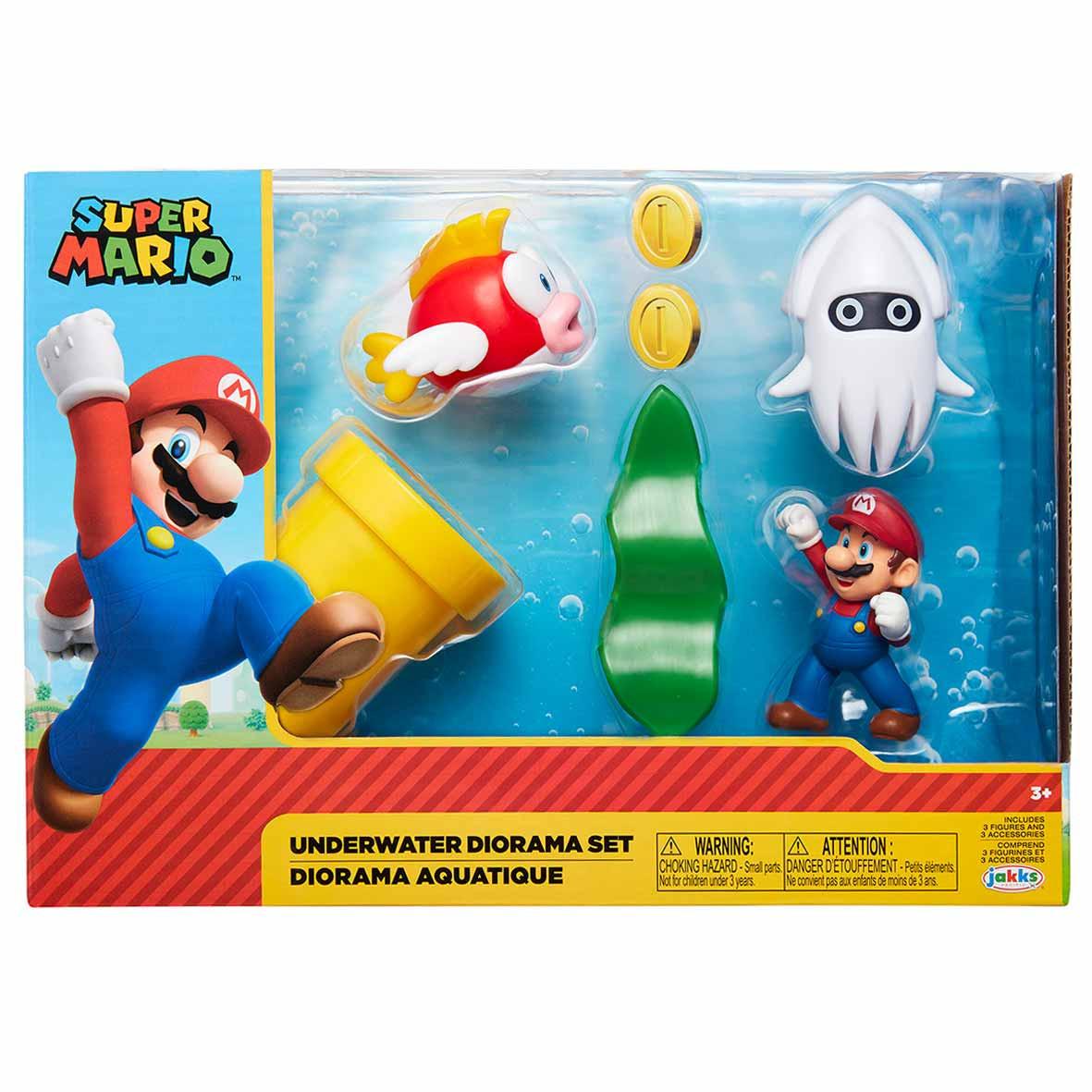 Super Mario Nintendo Underwater Diorama Set