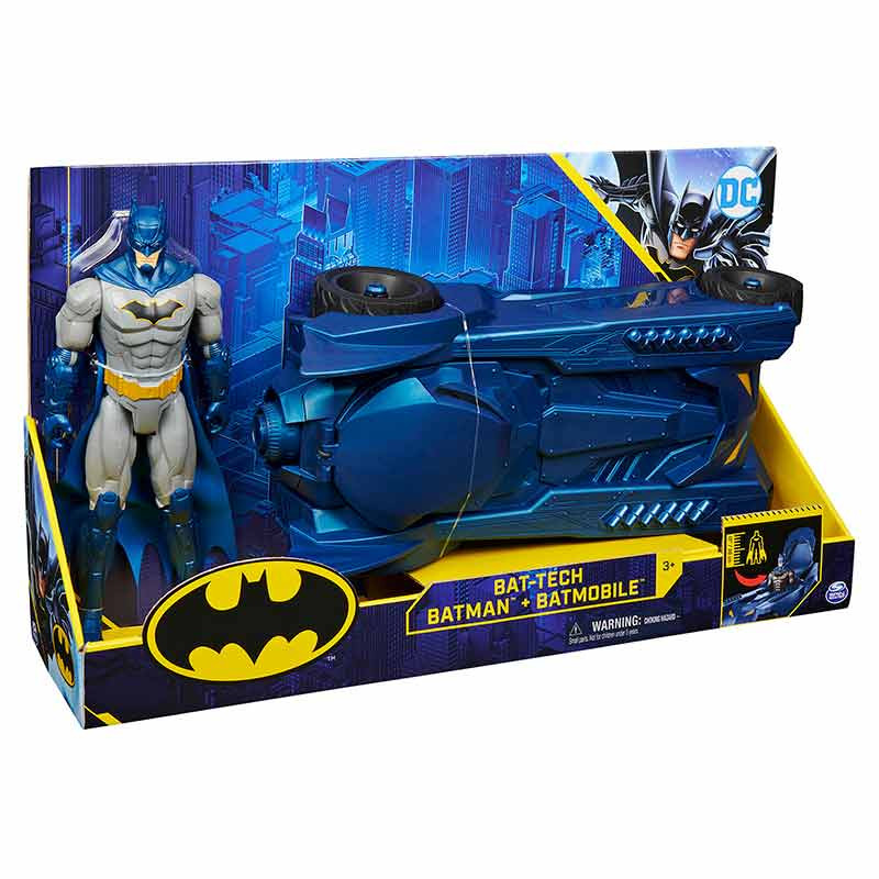 Batman Batmobile com Figura XL