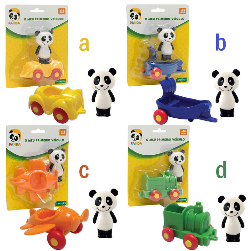 Panda Mini Veiculos com figuras