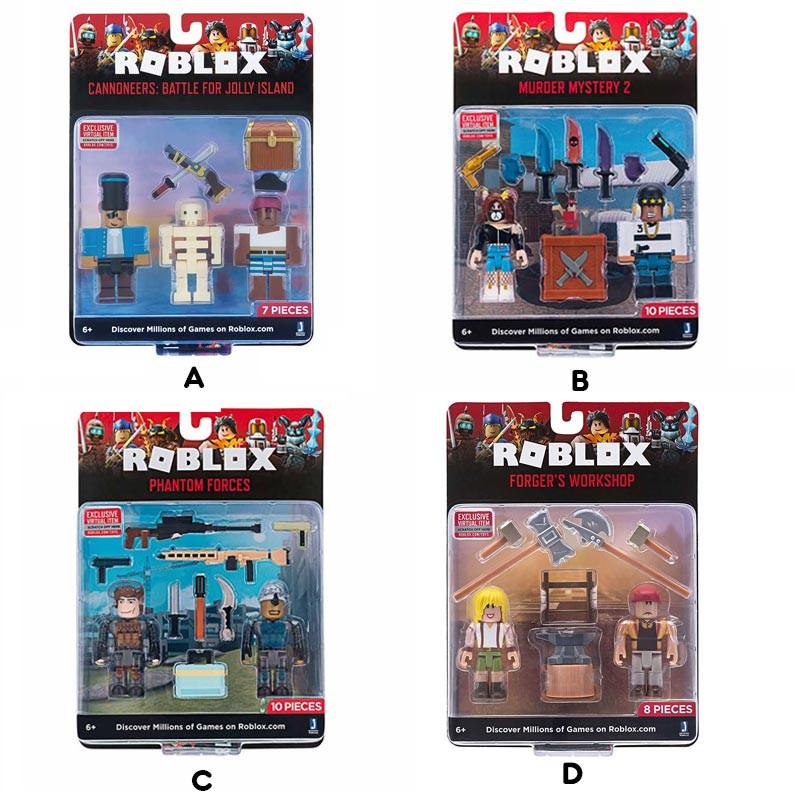 Roblox pack duas figuras e acessórios