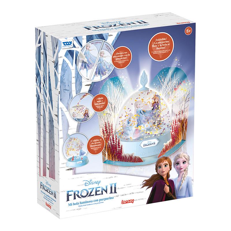 Frozen II bola de neve com luz