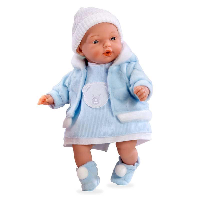Boneca Bebé Chorona Elegance 28 cm Azul