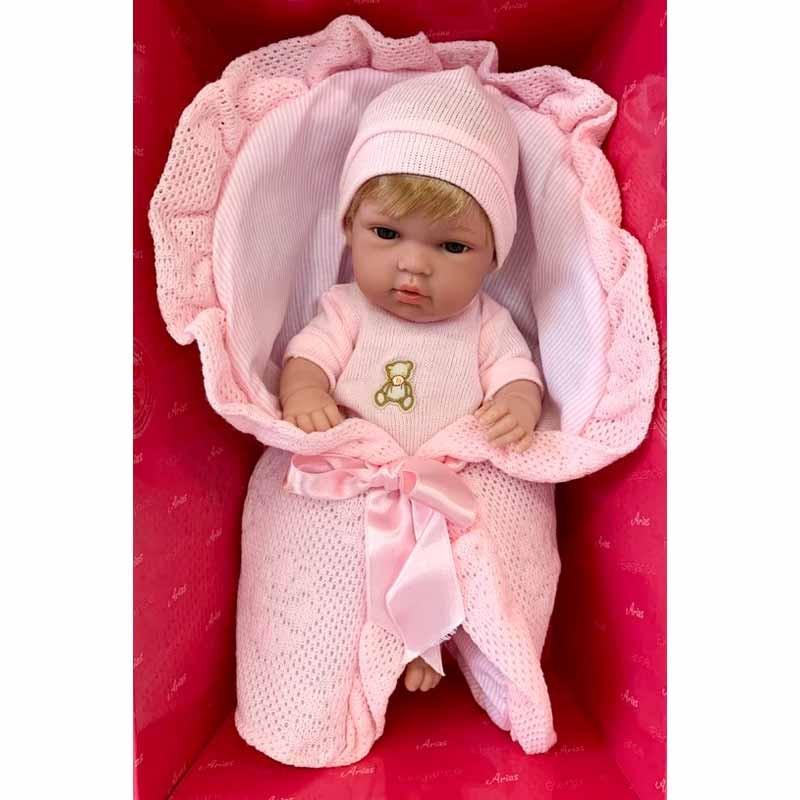 Boneca Elegance 33 cm Natal rosa com nana