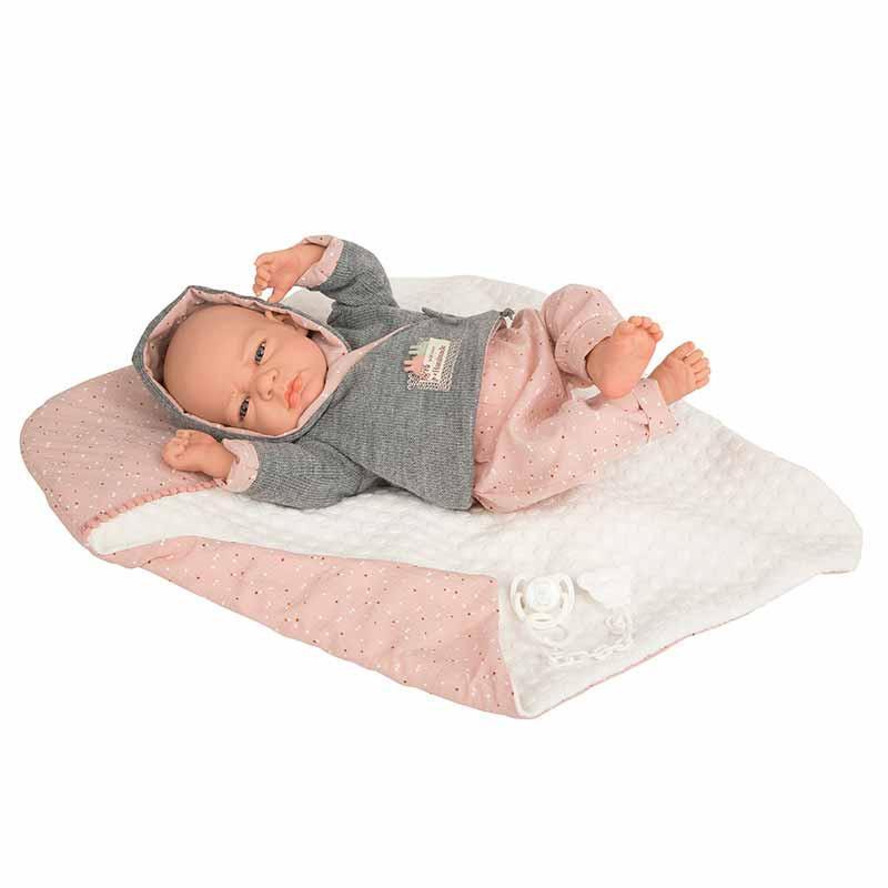 Elegance 40 cm Edur rosa com manta (peso real)