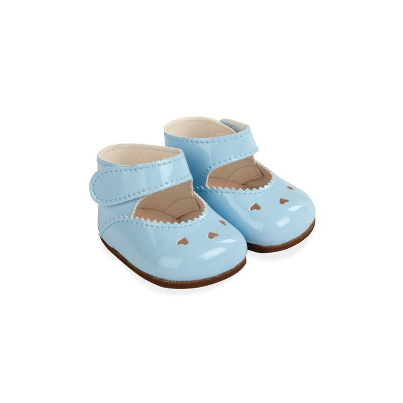 Sapatos azuis reborns 45 cm