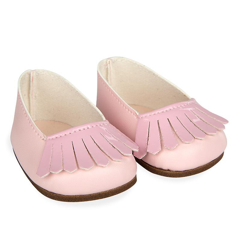 Sapatos rosa reborns 45 cm