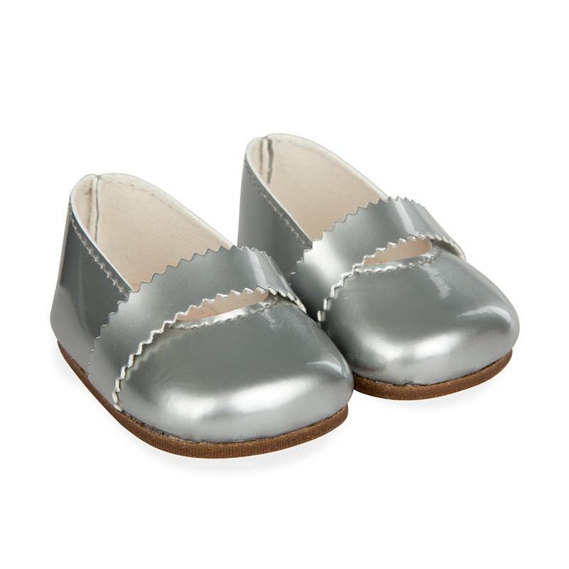 Sapatos cinza reborns 45 cm