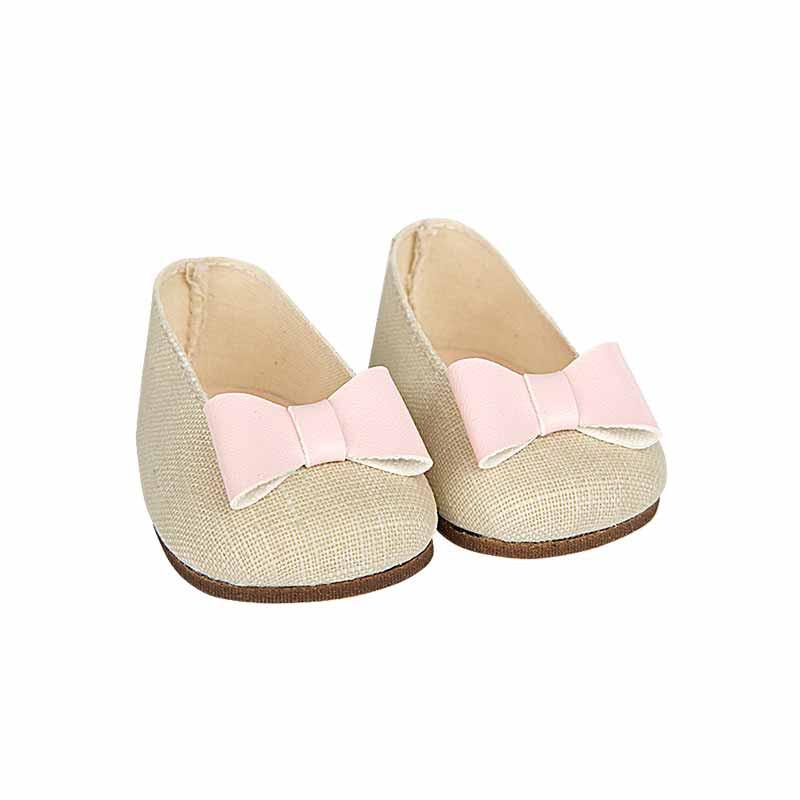 Sapatos bege reborns 45 cm