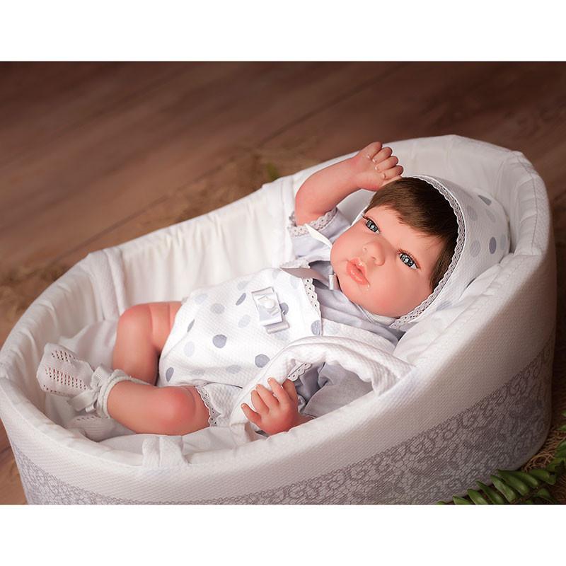 Boneca Reborn Sofia 40 cm c/ porta bebes